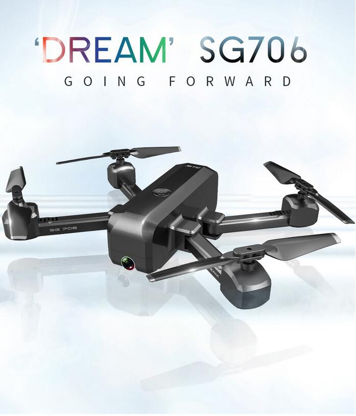 SG706 RC Drone 4K 1080P Dual Camera Remote Control Drone Quadcopter 50x Zoom Optical Flow Folding Dreams Helicopter Outdoor Toy