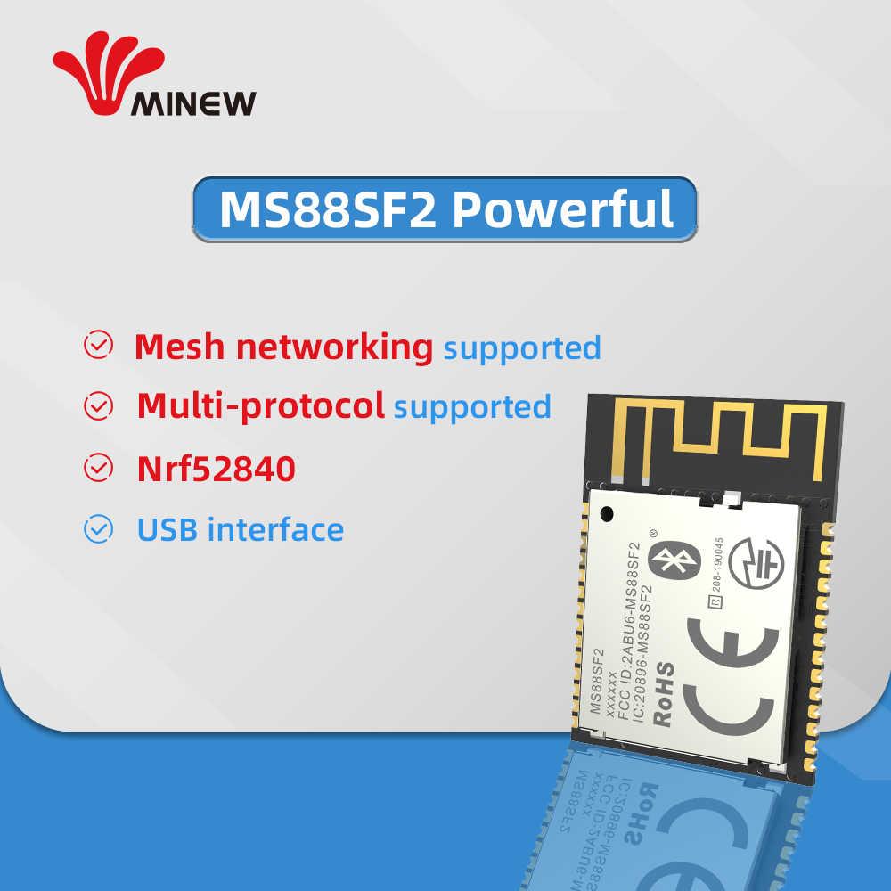 Módulo BLE 5,0 inalámbrico de bajo consumo certificado CE FCC RoHS basado en nRF52840 SoCs ofrece la solución para la conectividad Bluetooth