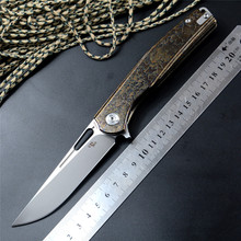 CH 3538 Quality Brand Knife S35VN Blade Ceramic Ball Bearing Washer TC4 Handle Outdoor Camping Hunting Pocket Knife EDC Tools