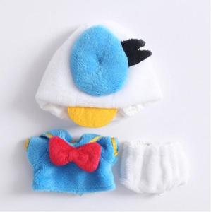 Image 5 - Nuovo 3pcs = shirt + underwear + Hat Anatra Vestito Vestiti per le Bambole per ob11, obitsu11, Molly, 1/12bjd bambola accessori di abbigliamento