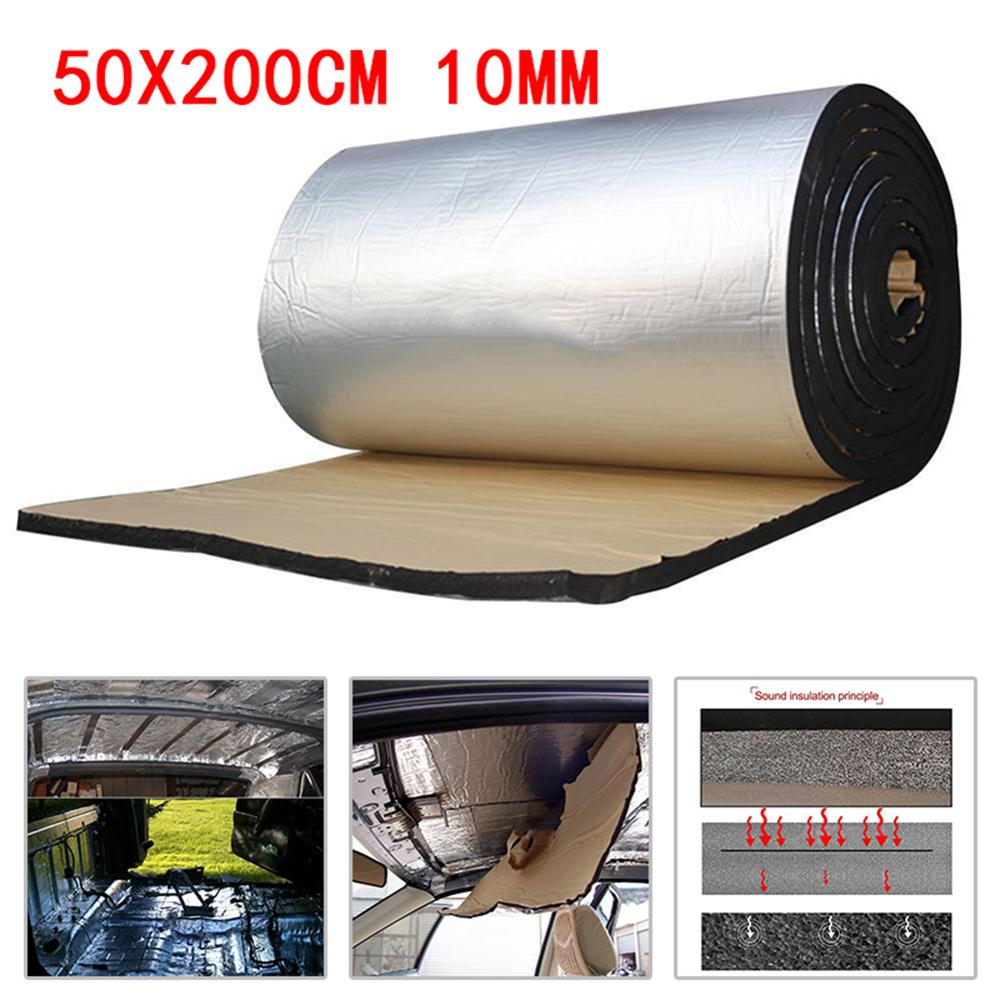 10mm Car Truck Firewall Heat Sound Deadener Insulation Mat Noise Insulation Wool Car Heat Sound Thermal Proofing Pad 50 200cm