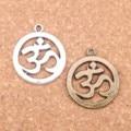 6pcs Charms Yoga OM 25mm Antique Pendants,Vintage Tibetan Silver Jewelry,DIY for bracelet necklace