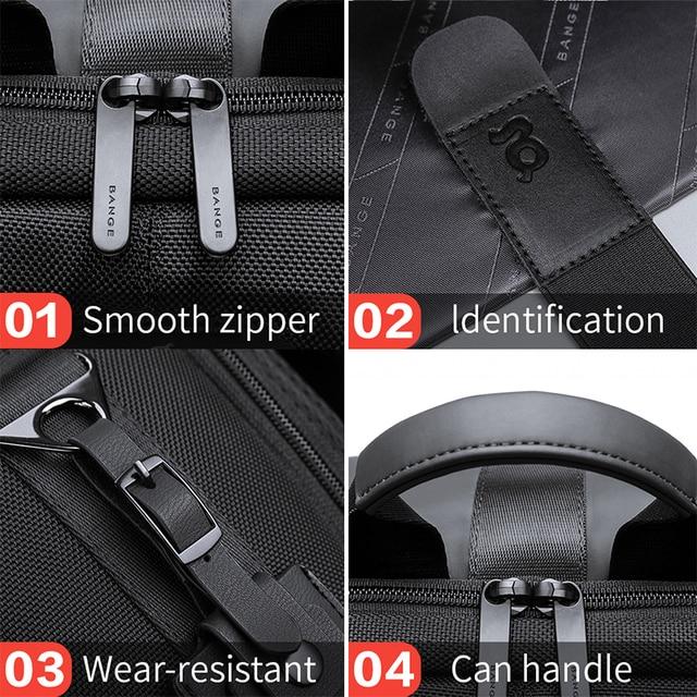 Bange Men Fashion Backpack Multifunctional Waterproof Backpack Daily Travel Bag Casual School Rucksack 5