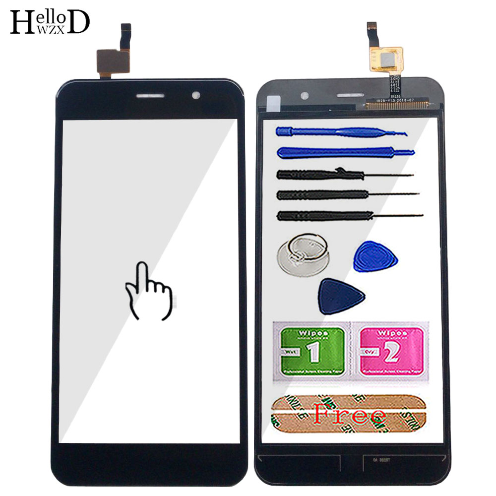 Mobile Touch Screen For Vertex Impres Wolf Touch Screen TouchScreen Digitizer Panel Front Glass Lens Sensor Tools 3M Glue