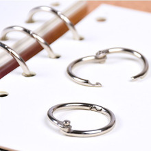10PCS 25MM binding key ring book recommended iron buckle open