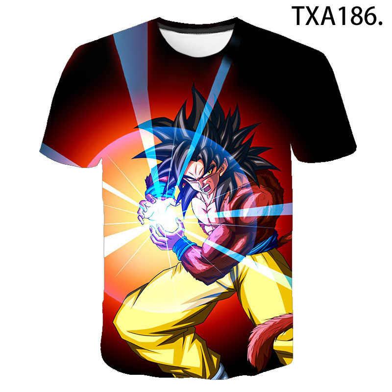 2020 novo dragão bola z super saiyan vegeta camiseta das mulheres dos homens crianças anime goku t camisa dbz 3d impresso topos menino menina t