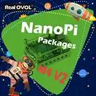 RealQvol FriendlyARM NanoPi M4V2 4GB Kit paquete Rockchip RK3399 2,4G y 5G dual bandhas puertos interfaces compatibles con RPi B3 +