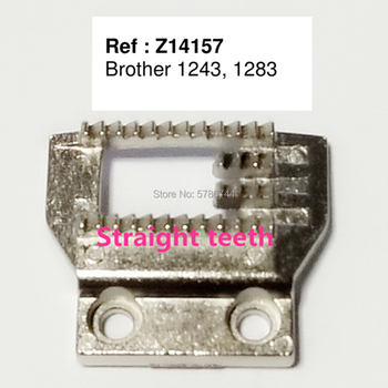 Feed dog #Z14157 Needle plate #NZ-5LG for Brother 1243,1283,Homemaker 2345-TW,Nelco R-1000,Western W-50-1,400,480,490 etc image