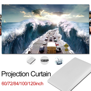 16:9 Portable Tabletop Projection Screen folded 72 inches simple folding travel mobile presentations outdoor cinema meetings