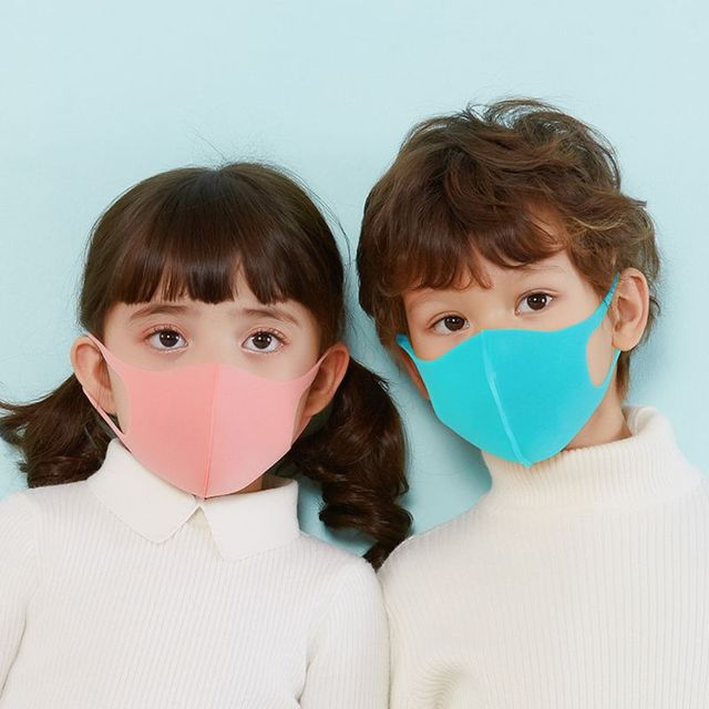 3Pcs Kids PM2.5 Sponge Anti Pollution Face Mask Washable Reusable Sponge Dustproof Mouth Mask Anti Flu Mask for Children 1