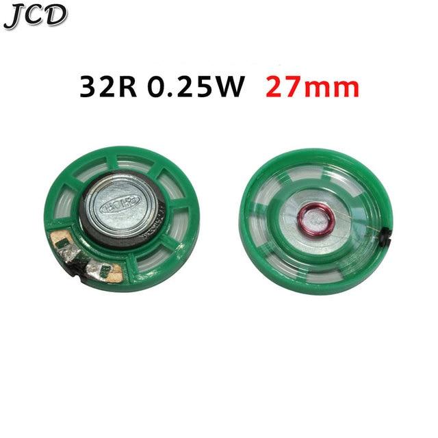 Фото jcd 1 шт новый зеленый ультратонкий мини динамик 32 16 8 ом цена