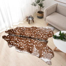 New Arrival PV Velvet Imitation Animal Skins Rugs and Carpets Sika Deer Carpet 155*180cm Carpets For Living Room Bedroom Mat