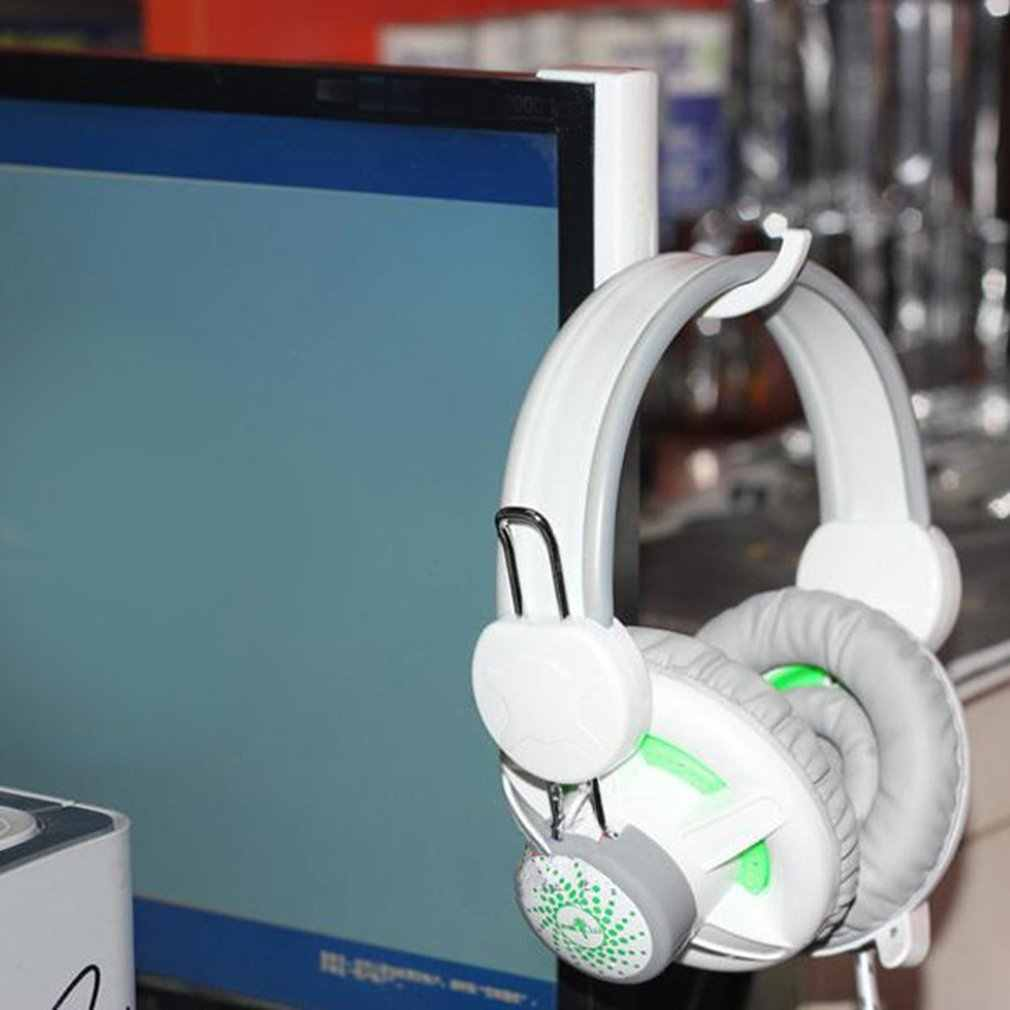 Headphone Menghubungkan Headset Gantungan Dinding Kait Portabel Ukuran Headphone Stand Universal PC Monitor Earphone Dudukan Rak Rak