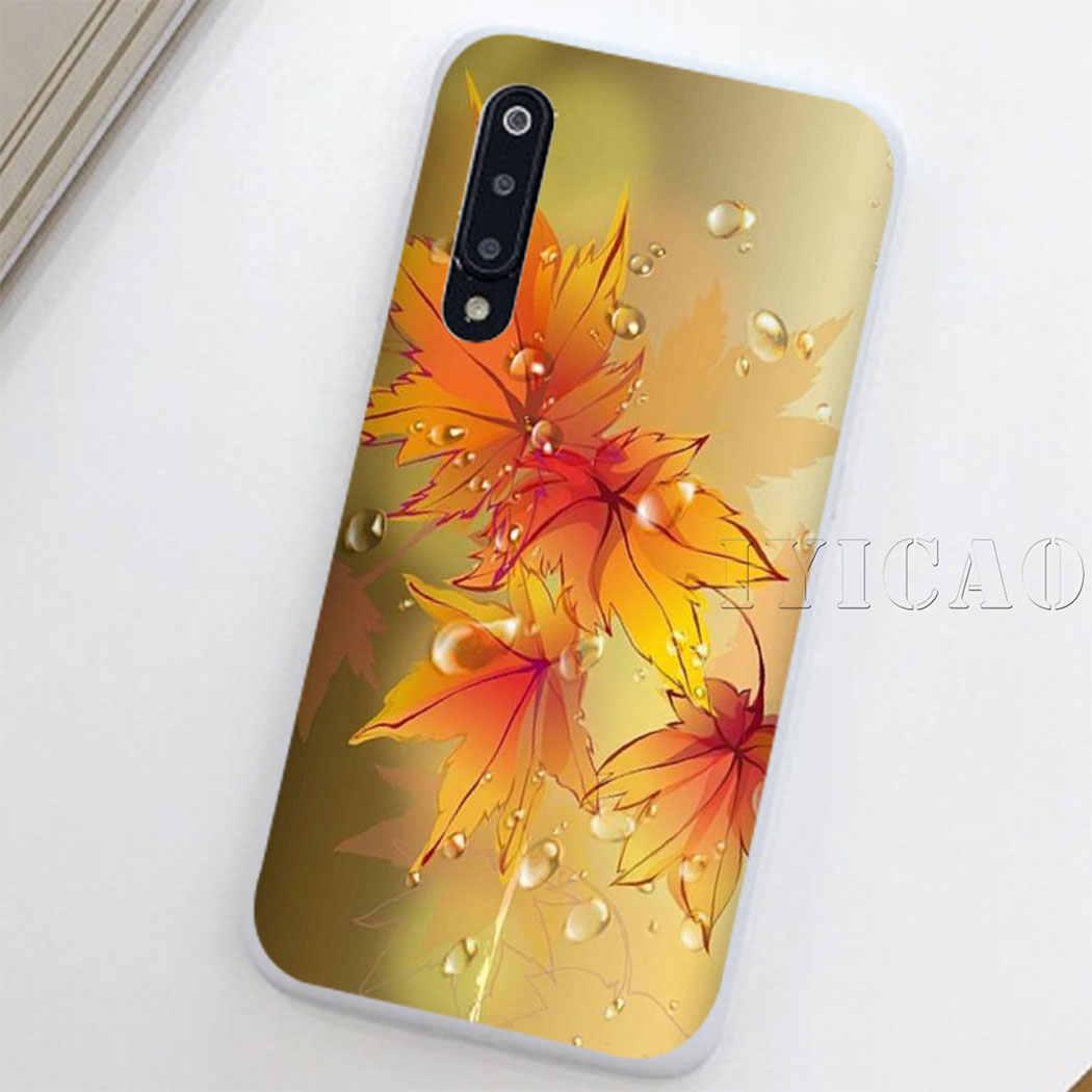 Folhas de outono amarelo ouro caído folha de bordo caso duro para redmi 8a 6a 4a s2 nota 7 3 4 4x6 5 pro 5a prime plus para redmi ir