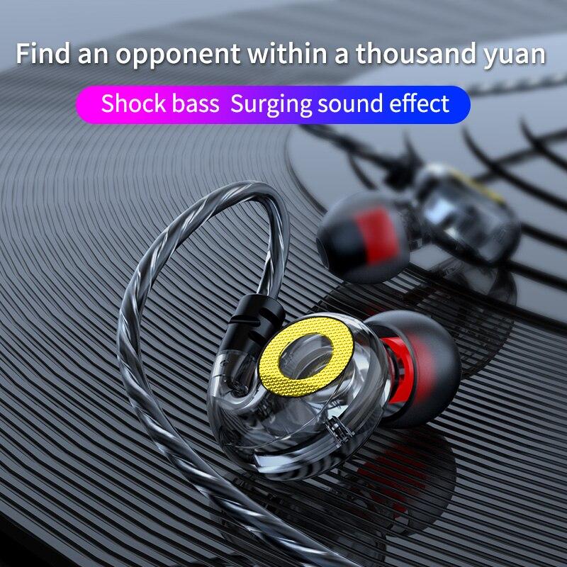 Olhveitra гарнитура геймер 3,5 мм наушники проводные для iPhone Android Handfree в ухо спортивные бас стерео наушники Auriculares с микрофоном