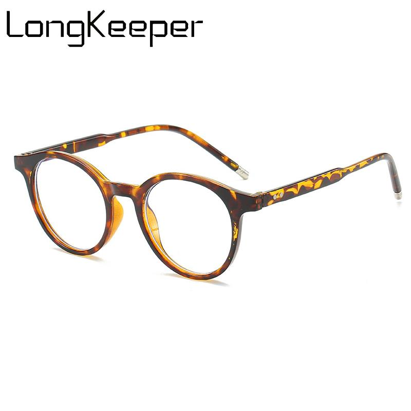Fashion Anti Blue Lights Eyeglasses Women Men 2019 New Leopard Glasses Female Round Clear Lens Optical Spectacle Frame
