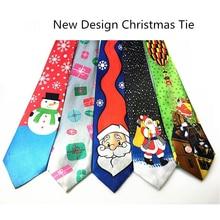 RBOCOTT синий напечатанный Рождественский галстук 9,5 см зеленая елка новинка галстук красный Санта Клаус Снежинка шейный галстук для фестиваля подарок