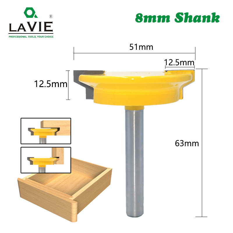LAVIE 8mm Straight Drawer Molding Router Bit Drawer Lock Tenon Knife Plug Wood Milling Cutter Door Woodworking Tool MC02130