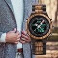BOBO BIRD de lujo para hombres, relojes de pulsera de madera Digital, luz nocturna y pantalla de semana, relojes de reloj masculino C-P02-3