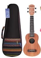 Высокое качество 21 дюймов сопрано Гавайские гитары/сумка Sapele Дерево 15 Лада четыре струны Гавайские гитары струнный музыкальный инструмент