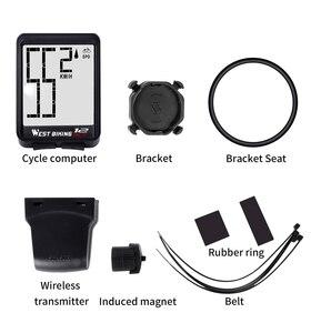 Image 5 - 西バイクコンピュータ多機能 led デジタルレート mtb 自転車スピードメーターワイヤレスサイクリング走行距離コンピュータストップウォッチ