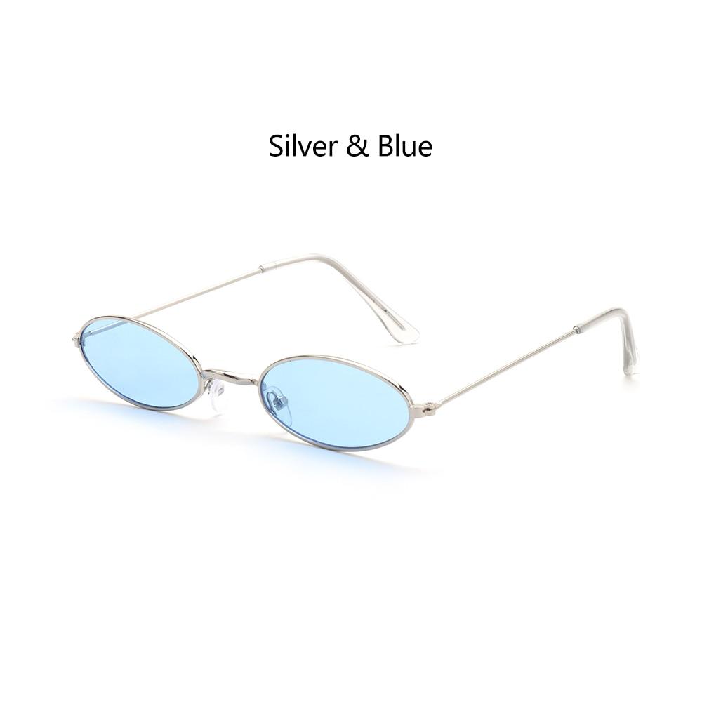 Fashion Vintage Shades Sun Glasses Elegant okulary Retro Small Oval Sunglasses for Men Women Eyeglasses gafas oculos 17