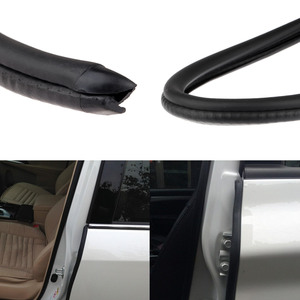 Image 1 - 2x80cm tira de vedação de borracha isolamento acústico do carro guarnição para b pilar ruído à prova vento borda da porta tiras de vedação de borracha estilo do carro