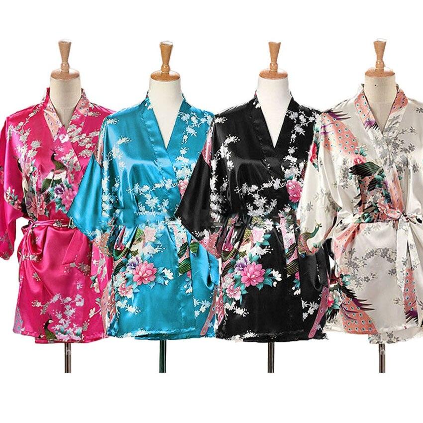 Japanese Children Yukata Kimono Robe Girl Cotton Rippled Fan Crane Made in Japan