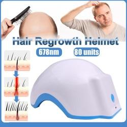 Rechargeable Laser Hair Regrowth Helmet 678nm Hair Low Light Extension Laser Cap Treating Hair Loss