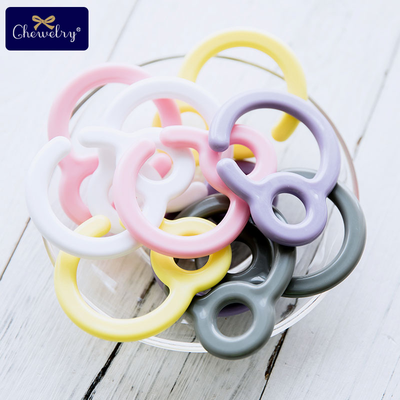 10pcs Pacifier Hook Plastic Clips Teething Ring Links Baby Stroller Toy Teething DIY Dummy Clip Nursing Pendant Children's Goods