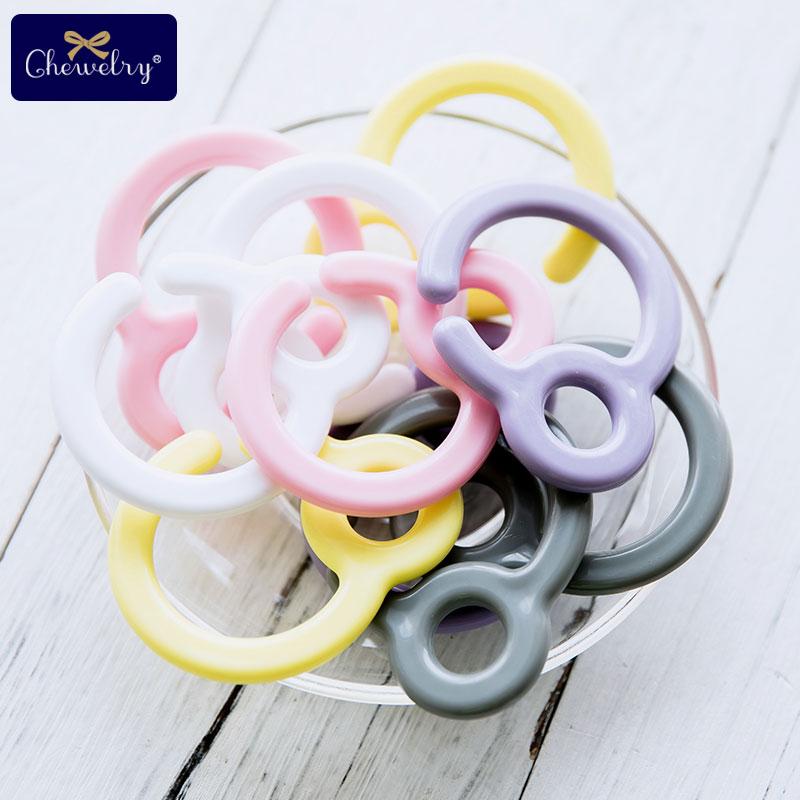 10pcs Pacifier Hook Plastic Clips Teething Ring Links Baby Stroller Toy Teething DIY Dummy Clip Nursing Pendant Children's Goods
