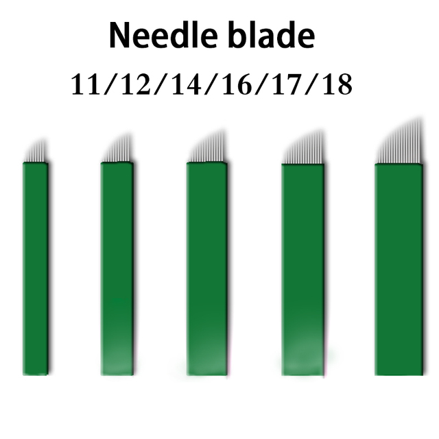 100pcs Microblading Needles 0.16mm nano Agulhas Lamina multiple Para Flex 12U Shape Tattoo Blades for Tebori Manual Eyebrow Pen 5