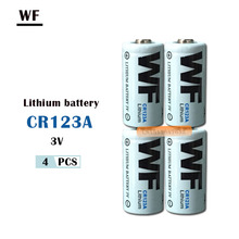 4 шт. WF CR123A CR123 CR 123A 16340 литий-ионный аккумулятор Батарея 3V главным образом литиевая Батарея