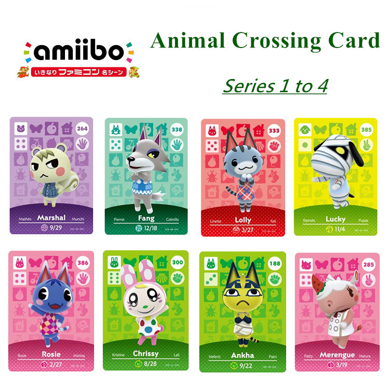 Series 1 To 4 Animal Crossing Card Amiibo Card Work For NS Games Animal Crossing Cards Amiibo Card New Horizons For Nintend