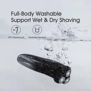 Image 4 - Youpin Enchen BlackStone 3 rasoir électrique 3D Triple lames flottantes têtes rasage rasoirs hommes tondeuse à barbe faciale