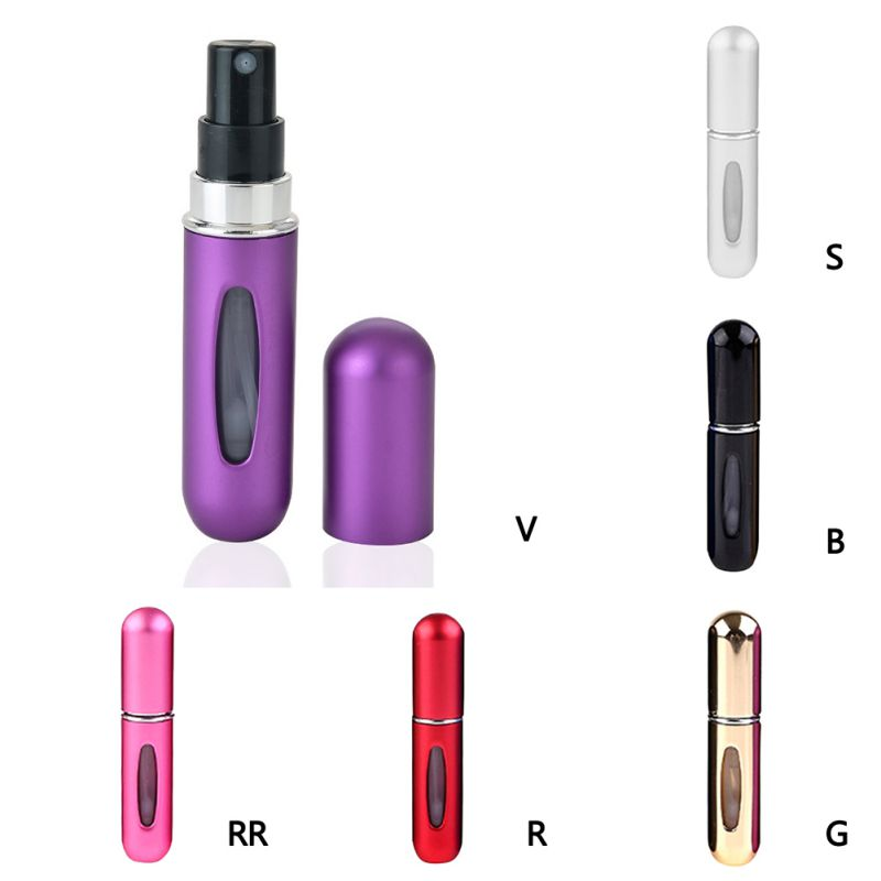 Portable Mini Refillable Perfume Bottle With Spray Scent Pump Empty Cosmetic Containers Spray Atomizer Bottle For Travel 5Ml