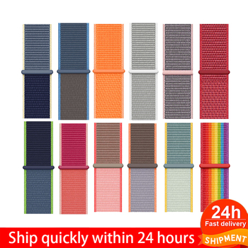 цена на Breathable Band For apple Watch Series 4 3 2 Bands 44mm 42mm Nylon Soft Replacement Sport Loop for iwatch 4 3 2 1 40mm 38mm
