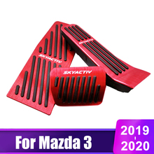 2pcs new no drilling gas brake foot pedal cover red aluminum alloy foot pedal covers for toyota rav4 rongfang 2019 2020 Aluminum alloy Car Accelerator Gas Brake Pedal Rest Foot Pedals Clucth Pedal Pads Cover Cover For Mazda 3 Axela CX-30 2019 2020
