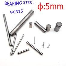5 MILÍMETROS passador pinos de aço do Rolamento de rolos de eixo de acionamento do eixo de transmissão GCr15 6 8 10 15 20 25 30 35 40 45 50 55 60 70mm