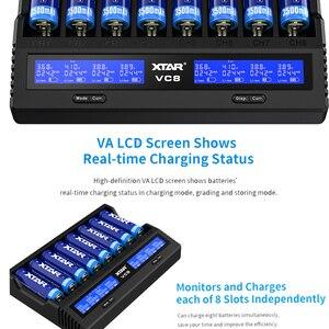 Image 4 - XTAR VC8 Caricabatteria QC3.0 Veloce di Ricarica di Tipo C di Ingresso Max 3A 1.2V NI MH AAA AA 3.6V li ion Batteria 10400 26650 18650 Caricabatterie