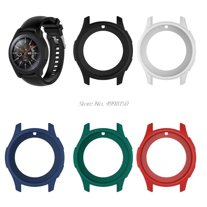 Silicone Soft Shell Protective Frame Case Cover <font><b>Skin</b></font> For <font><b>Samsung</b></font> Galaxy Watch 46mm Gear <font><b>S3</b></font> <font><b>Frontier</b></font> Dropship image