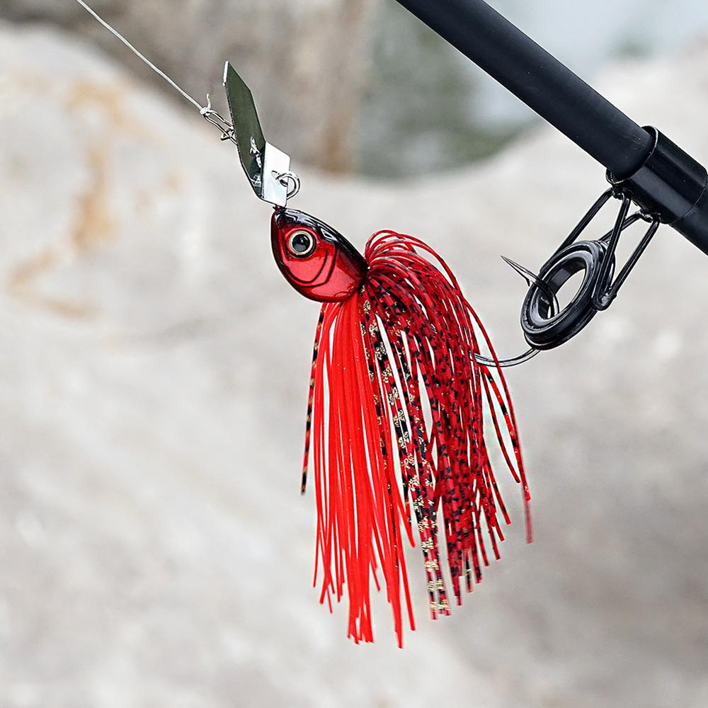 SUNMILE Fishing Chatterbait 16g Jig Hook SpinnerBaits Buzzbait With MUSTAD Hook for Bass Pike Tiger Muskie Metal Jig Lure-5