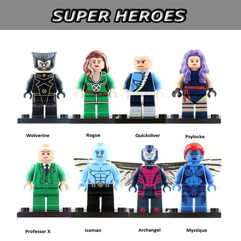 LEGO X-MEN QUICKSILVER MINIFIGURE APOCALYPSE SUPERHEROES MADE OF GENUINE LEGO