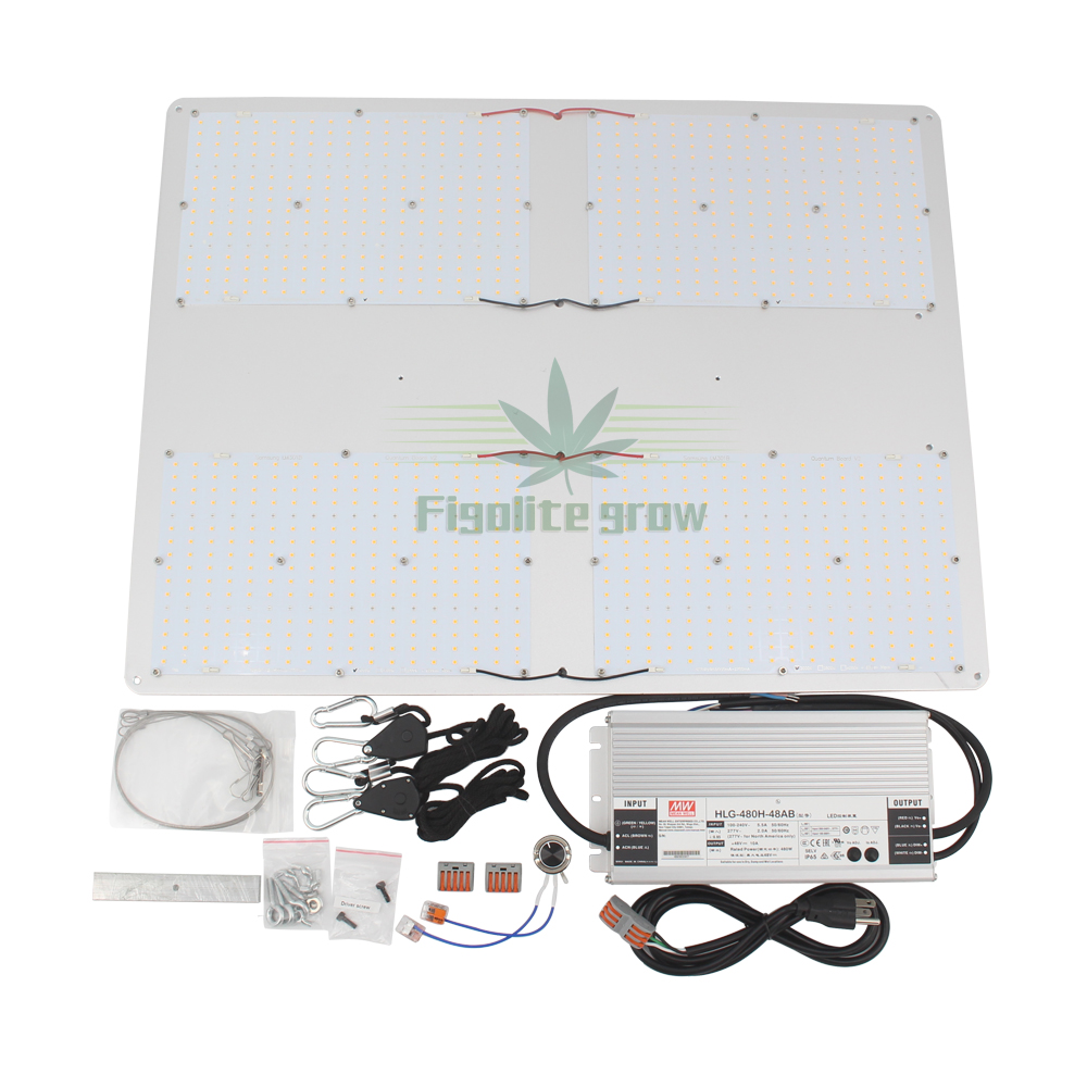 New Hydroponics HLG 550 V2 Dimmable Full Spectrum Samsung Lm301b 3000K/3500K  Mix Red 660nm Led Grow Light Quantum Board