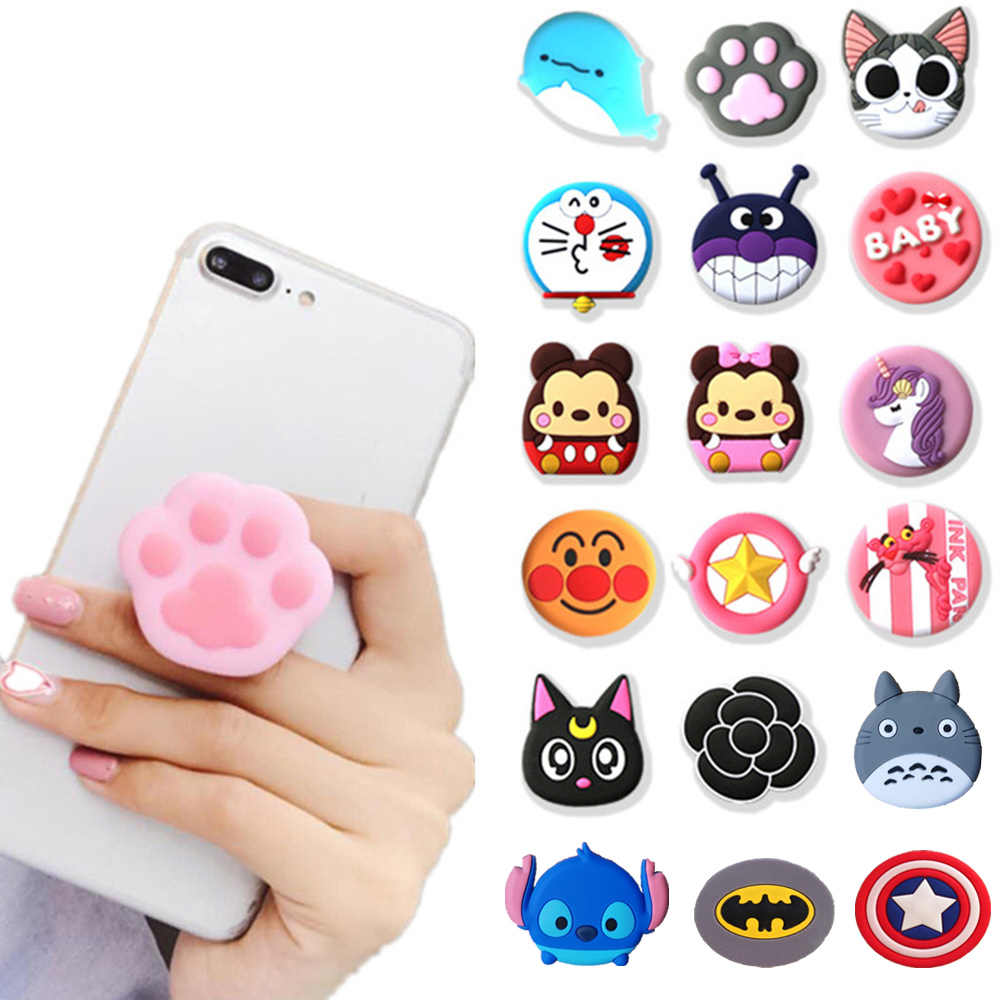 1PCS Universal mobile phone bracket Cute 3D Animal airbag Phone Expanding Stand Finger Holder Stitch panda phone holder Stand
