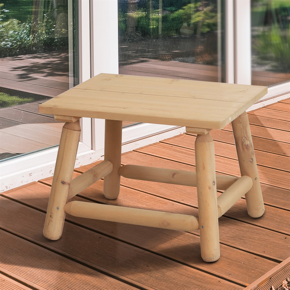 Outsunny Rectangular Coffee Table Garden Coffee 60x50x45 Cm