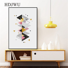 Abstract Nordic Art Home Wall Picture Canvas Painting Creative Geometry Printing Posters Pictures for Living Room DJ576