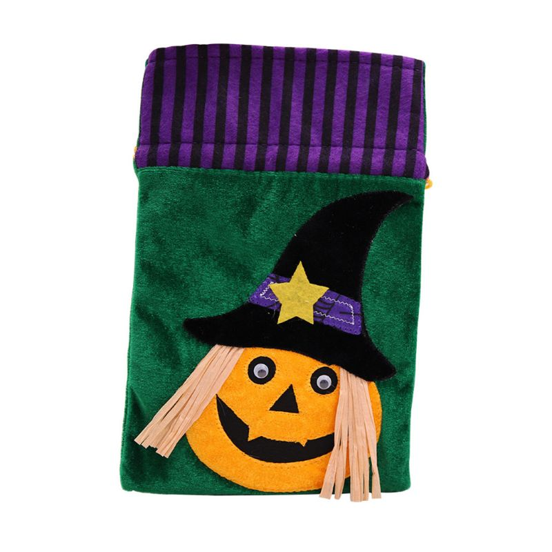 Halloween Candy Bags Gift Organizer Storage Drawstring For Favors Decoration