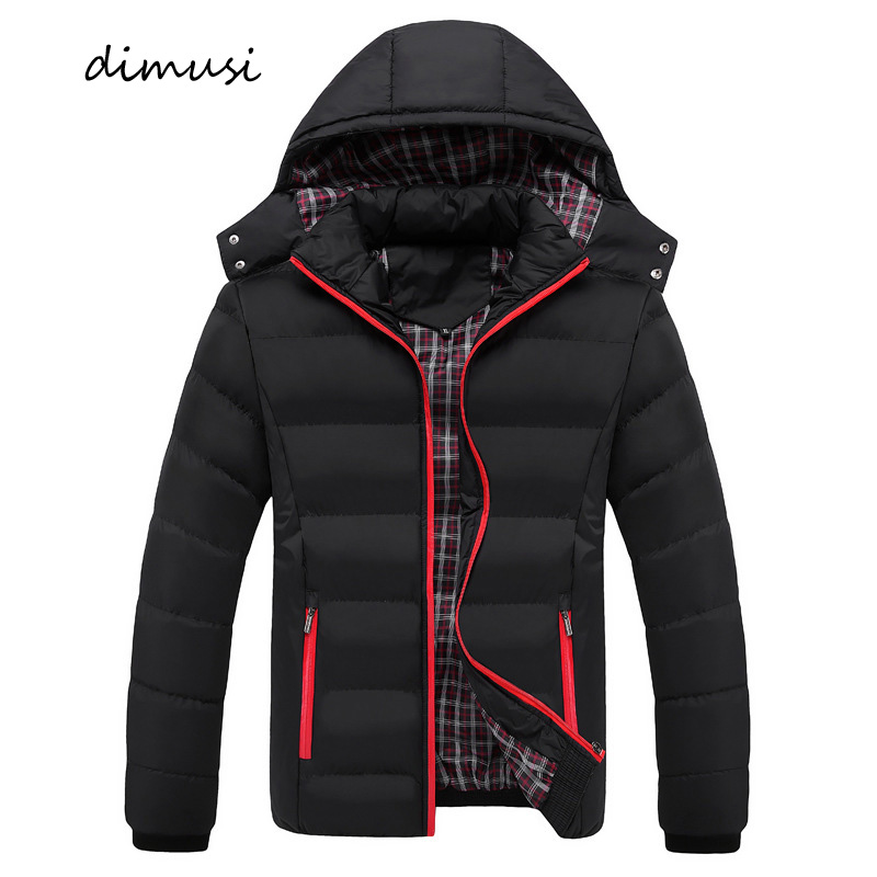 DIMUSI Winter Men Jacket Casual Mens Cotton Thick Warm   Parkas   Hoodies Male Outwear Thermal Windbreaker Jackets Clothing 6XL