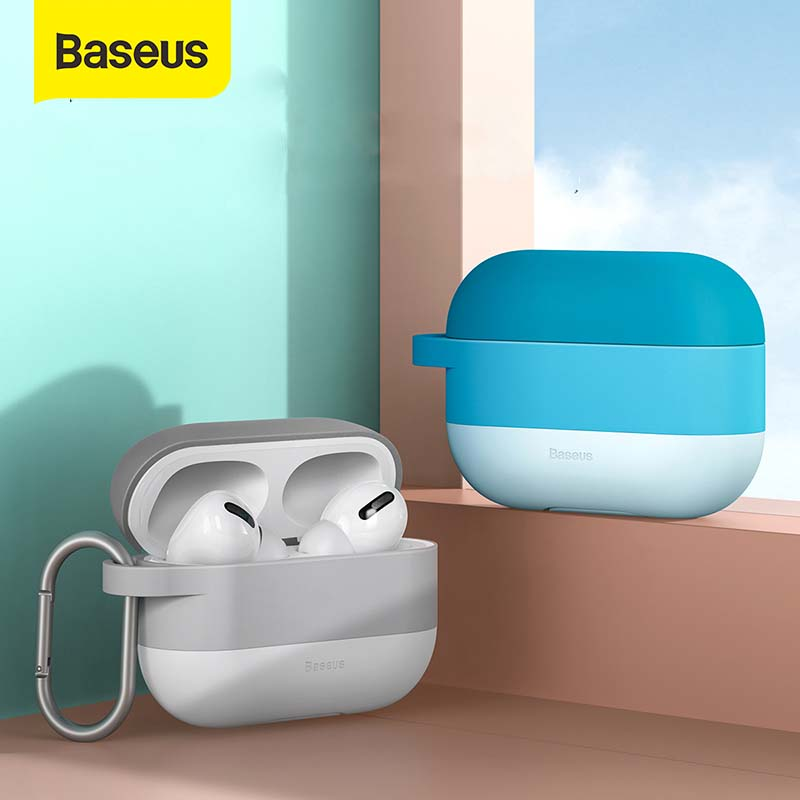 Baseus Silica Gel For Airpods Pro Case Shockproof Protective Cover Case Candy Color Box For AirPods Pro Air Pods Pro Cute Cover